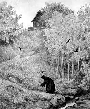 Theodor Kittelsen: Mother, an old woman is coming.